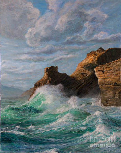 Sausalito Painting - Cliffs End by Jeanette Sacco-Belli