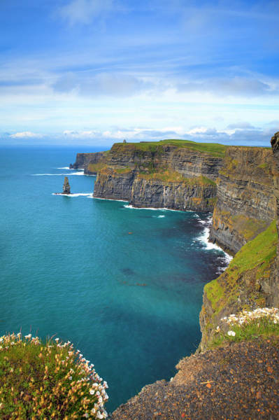 Moher Photograph - Cliffs Near A Mass Of Water In Moher by Espiegle