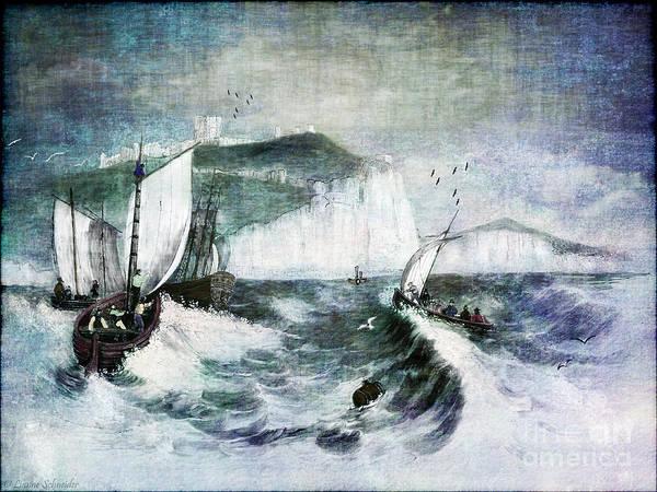 Stormy Digital Art - Cliffs Of Dover by Lianne Schneider