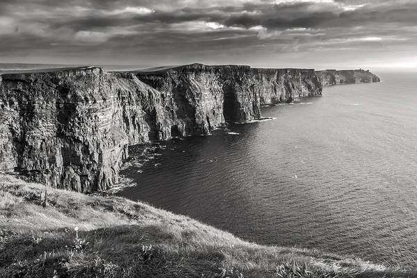 Moher Photograph - Cliffs Of Moher Black And White by Pierre Leclerc Photography