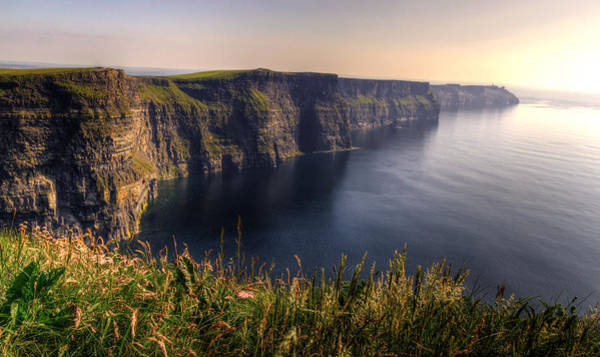 Cliffs Of Moher Distant Sunset Art Print