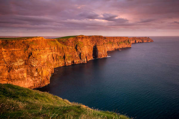Moher Photograph - Cliffs Of Moher Ireland At Sunset by Pierre Leclerc Photography