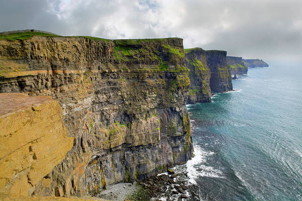 Moher Photograph - Cliffs Of Moher, Ireland by Espiegle