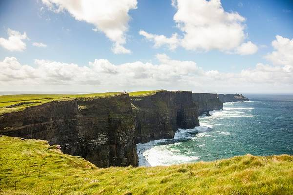 Moher Photograph - Cliffs Of Moher, Liscannor, County by Kevin Kozicki
