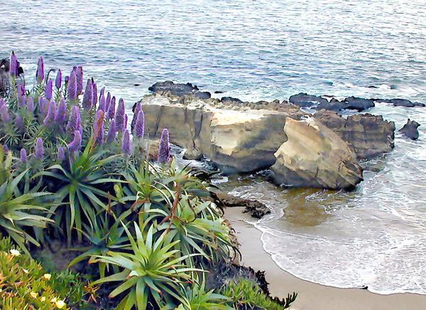 Laguna Beach Painting - Cliffside Ocean View by Elaine Plesser