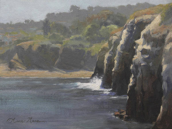 Wall Art - Painting - Cliffside Surf La Jolla by Anna Rose Bain