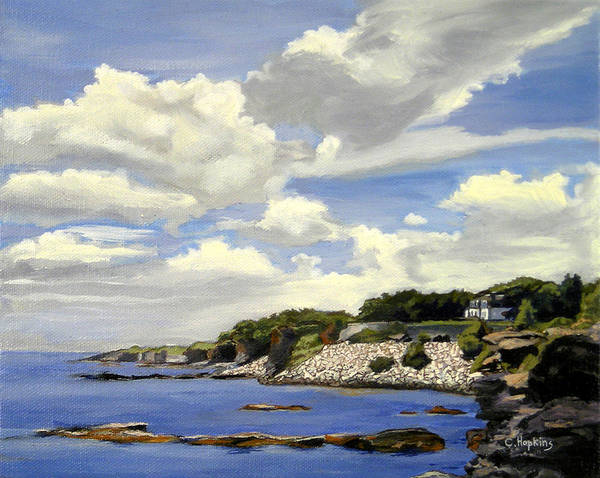 Wall Art - Painting - Cliffwalk Newport Rhode Island by Christine Hopkins