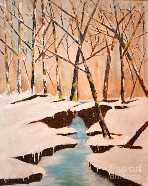 Painting - Cliffy Creek by Denise Tomasura