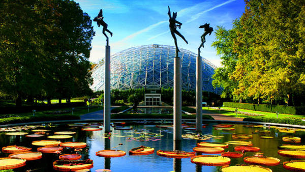 Photograph - Climatron Geodesic Dome Landscape by Patrick Malon