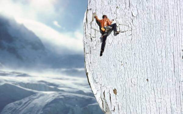 Mountaineer Digital Art - Climber by Jolanta Meskauskiene