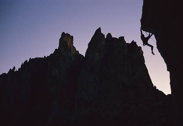 Lionel Photograph - Climber On Chain Reaction Smith Rocks by Lionel Clay