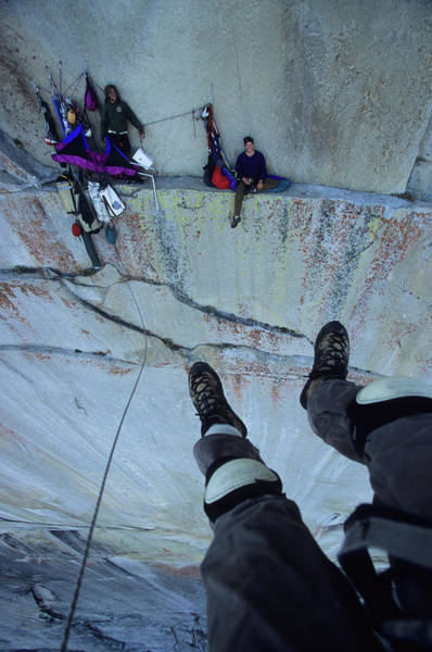 Wall Art - Photograph - Climber View Of Ascending Cliff by Andrew McGarry