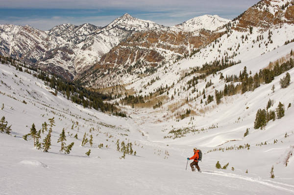 Backcountry Wall Art - Photograph - Climbing In Big Cottonwood Canyon by Howie Garber