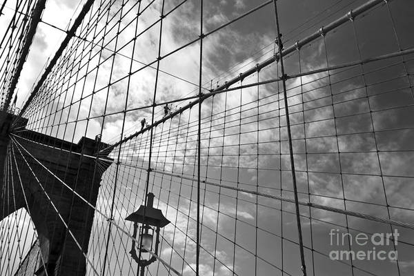 Wall Art - Photograph - Climbing The Bridge by Delphimages Photo Creations