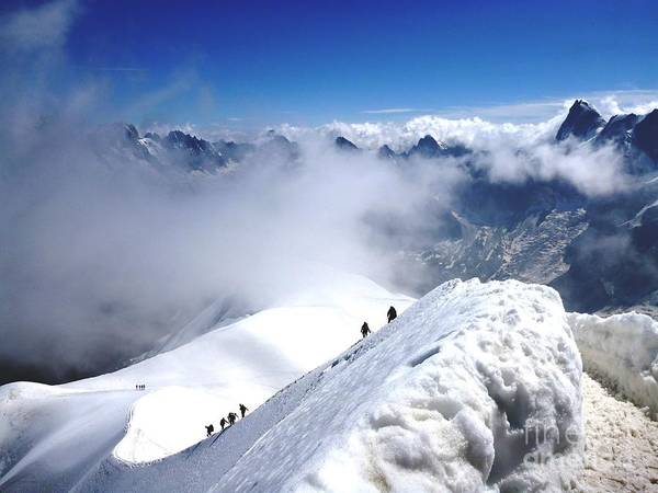 Photograph - Climbing To The Aiguille Du Midi by Cristina Stefan