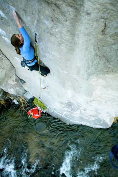 Wall Art - Photograph - Climbingbelaying Above A River by Corey Rich