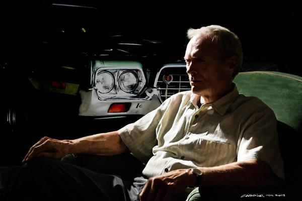 Digital Art - Clint Eastwood As Walt Kowalski In The Film Grand Torino - Clint Eastwood - 2008 by Gabriel T Toro