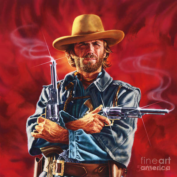 Wall Art - Painting - Clint Eastwood by Dick Bobnick
