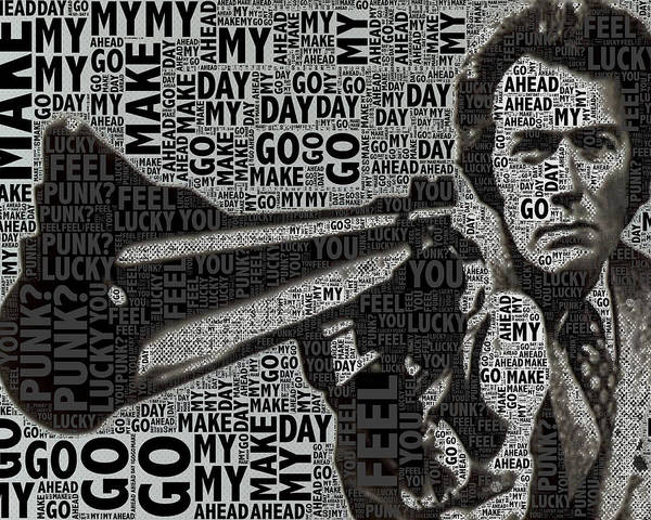 Wall Art - Painting - Clint Eastwood Dirty Harry Crop by Tony Rubino