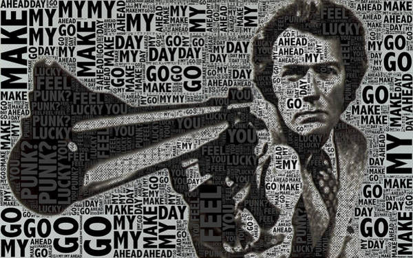 Clint Eastwood Photograph - Clint Eastwood Dirty Harry by Tony Rubino