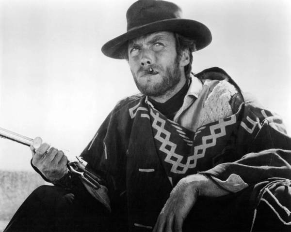 Wall Art - Photograph - Clint Eastwood In Il Buono, Il Brutto, Il Cattivo.  by Silver Screen