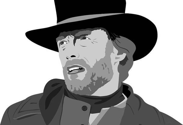 Blondie Digital Art - Clint Eastwood by Paul Dunkel