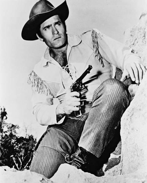 Walkers Photograph - Clint Walker In Cheyenne  by Silver Screen