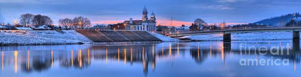 Lock Haven Wall Art - Photograph - Clinton County Courthouse Extra Wide Panorama by Adam Jewell