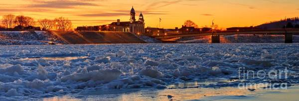 Lock Haven Wall Art - Photograph - Clinton County Courthouse Winter Sunset by Adam Jewell
