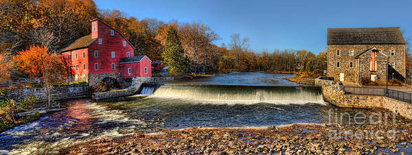 Textile Mill Photograph - Clinton Red Mill House Panoramic  by Lee Dos Santos