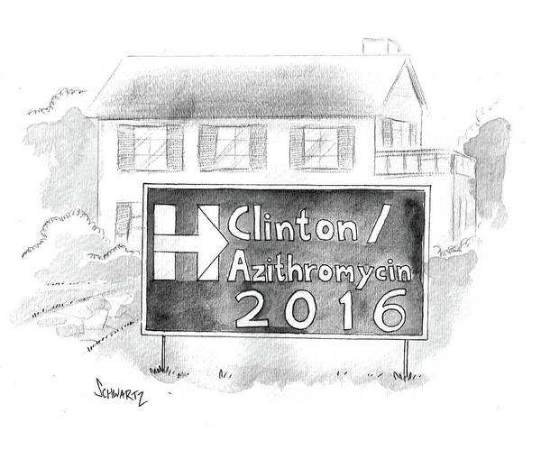 Wall Art - Drawing - Clinton/azithromycin by Benjamin Schwartz