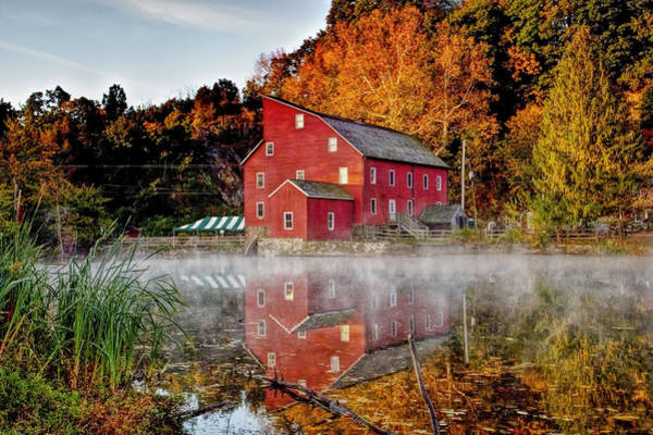 Recent Photograph - Clintons Historic Red Mill by Geraldine Scull