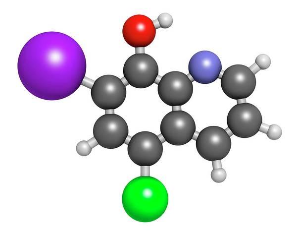 Clioquinol Antifungal Drug Molecule Art Print