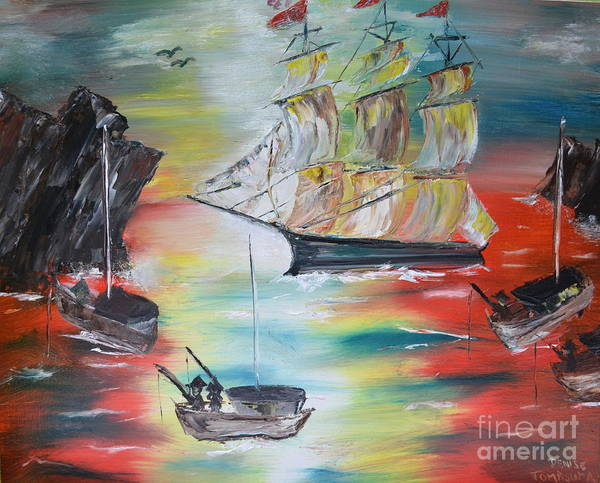 Painting - Clipper Come Home by Denise Tomasura