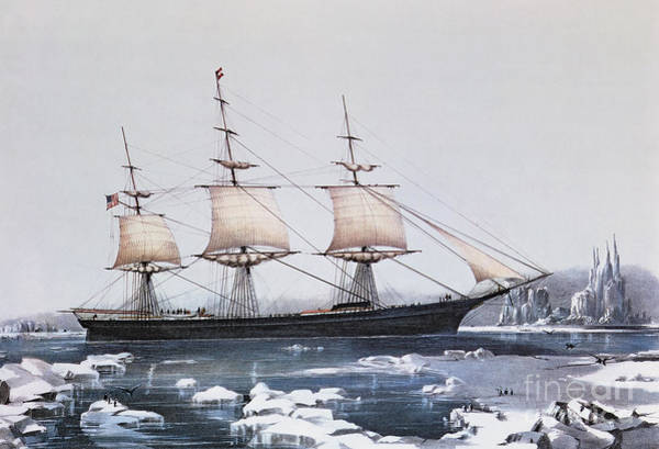 Ice Wall Art - Painting - Clipper Ship Red Jacket In The Ice Off Cape Horn On Her Passage From Australia To Liverpool by American School