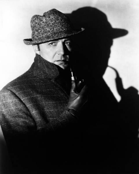Brooks Photograph - Clive Brook In Sherlock Holmes  by Silver Screen