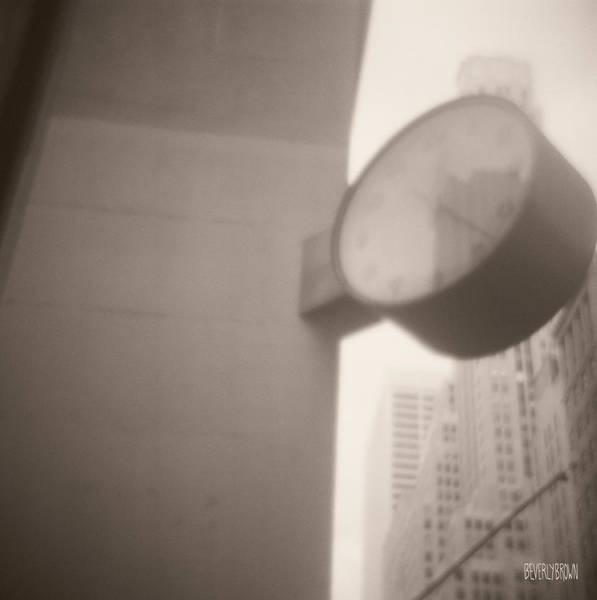 Clock Wall Art - Photograph - Clock 42nd Street by Beverly Brown