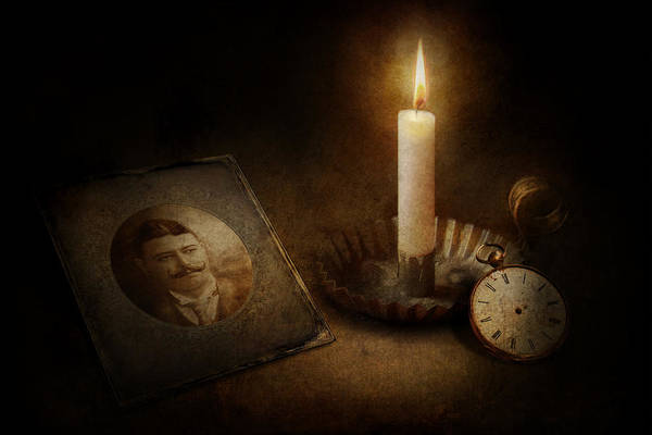 Photograph - Clock - Memories Eternal by Mike Savad