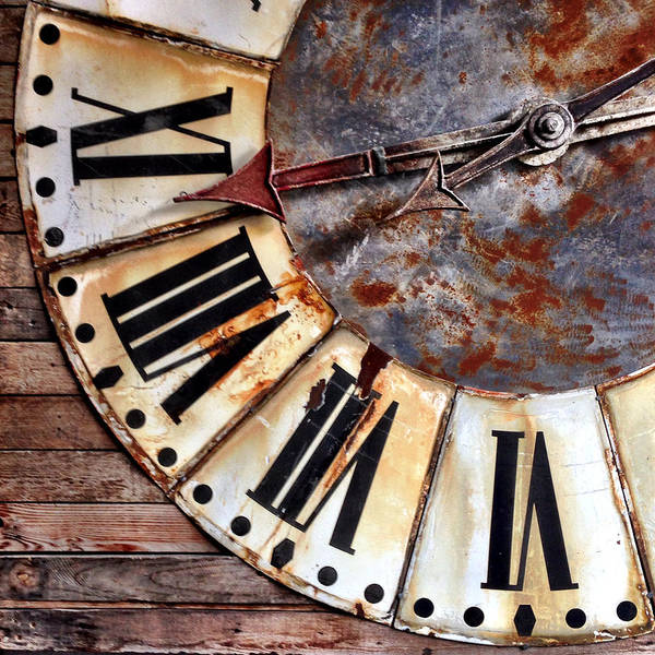 Wall Art - Photograph - Clock Numbers by Julie Gebhardt