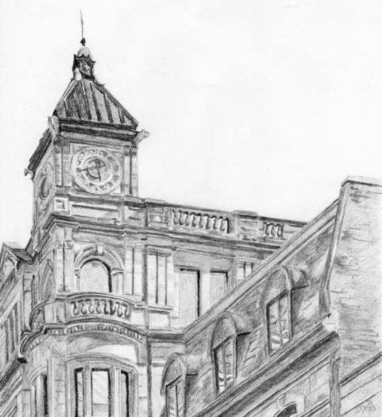 Drawing - Clock Tower by Duane Gordon