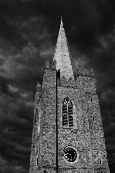 Photograph - Clock Tower - St. Patrick's Cathedral - Dublin by Photography  By Sai