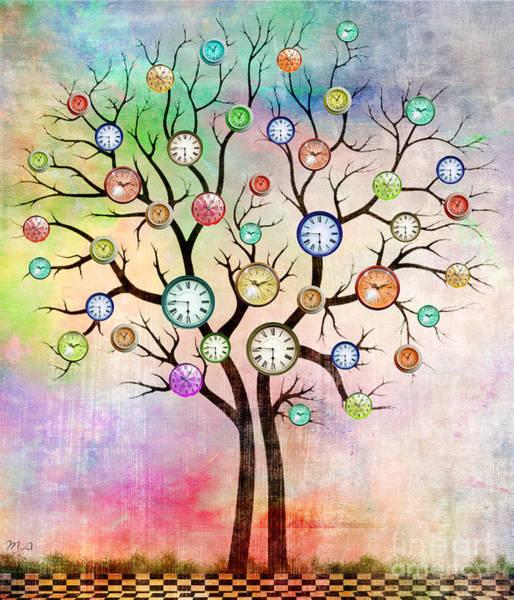 Wall Art - Painting - Clock Tree  by Mark Ashkenazi