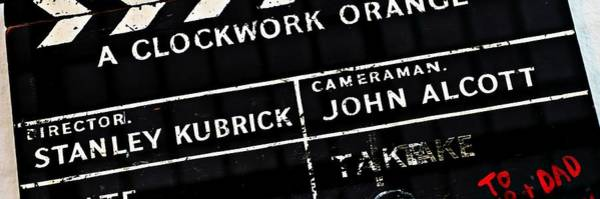 Photograph - Clockwork  Orange Clapper Board Mike Hope by Michael Hope