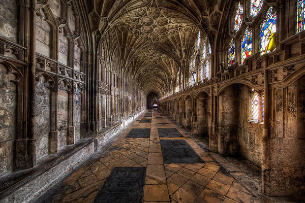 Cloister Photograph - Cloister Of Gloucester Cathedral by Roland Shainidze Photogaphy
