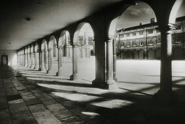 Cloister Photograph - Cloister Of Nevile Court by Simon Marsden/science Photo Library