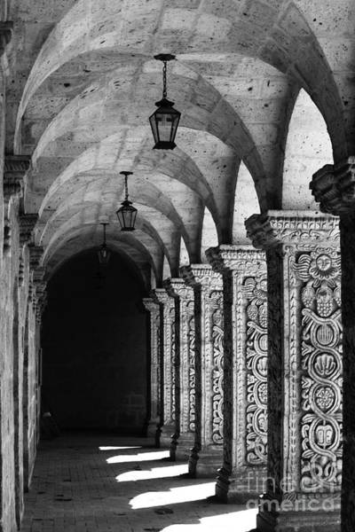 Photograph - Cloisters In Arequipa Peru by James Brunker