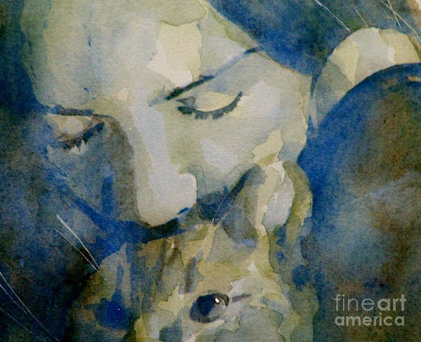 Cat Wall Art - Painting - Close My Eyes Lullaby Me To Sleep by Paul Lovering