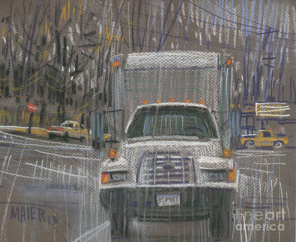 Delivery Truck Painting - Close-out Delivery Truck by Donald Maier