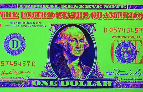 Wall Art - Photograph - Close-up Detail American Dollar Bill by Vintage Images