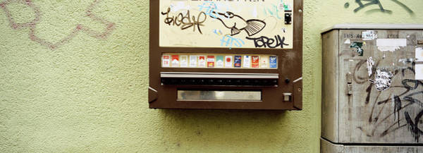 Wall Art - Photograph - Close-up Of A Cigarette Vending by Panoramic Images